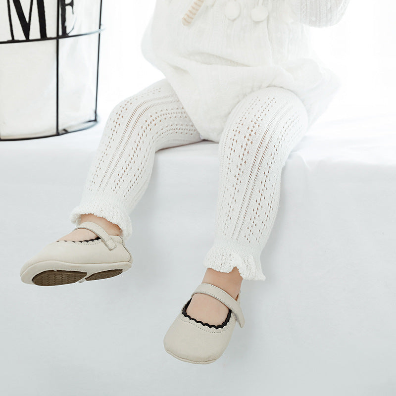 Girl's Baby Knit Crochet Leggings