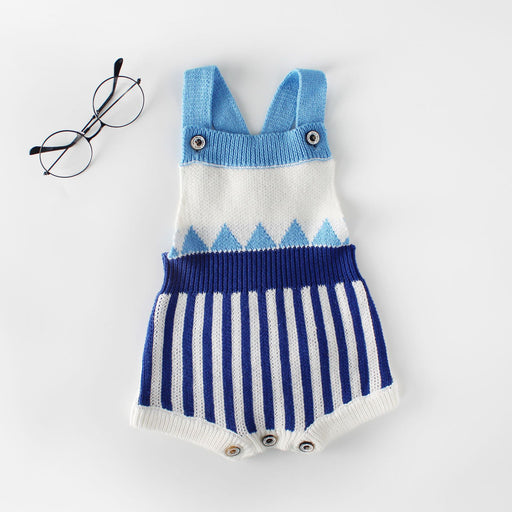 Baby knitted striped Jumpsuit