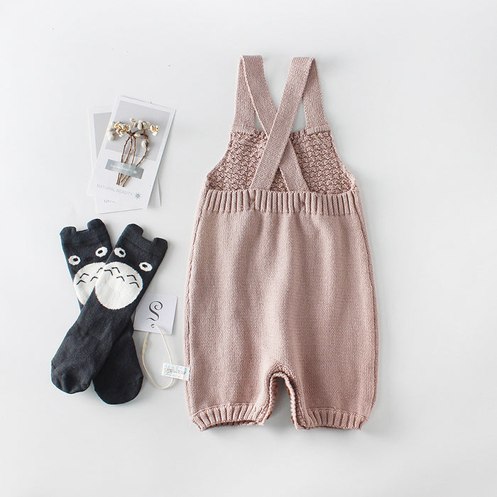 Knitted wool jumpsuit for baby carrier