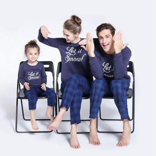 Family Pajamas - Monogrammed checked Christmas costumes