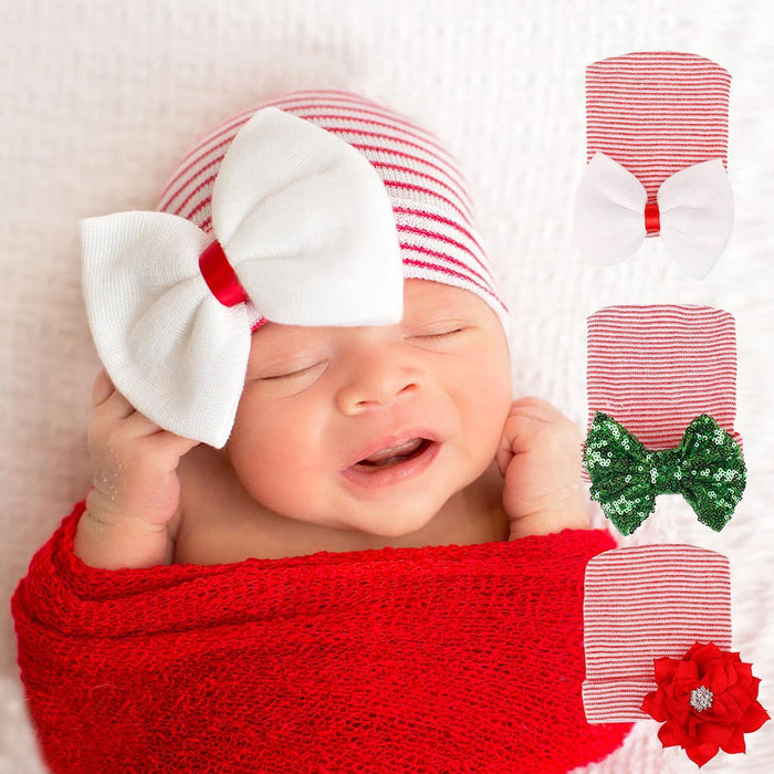 Baby Knitted Christmas Cap