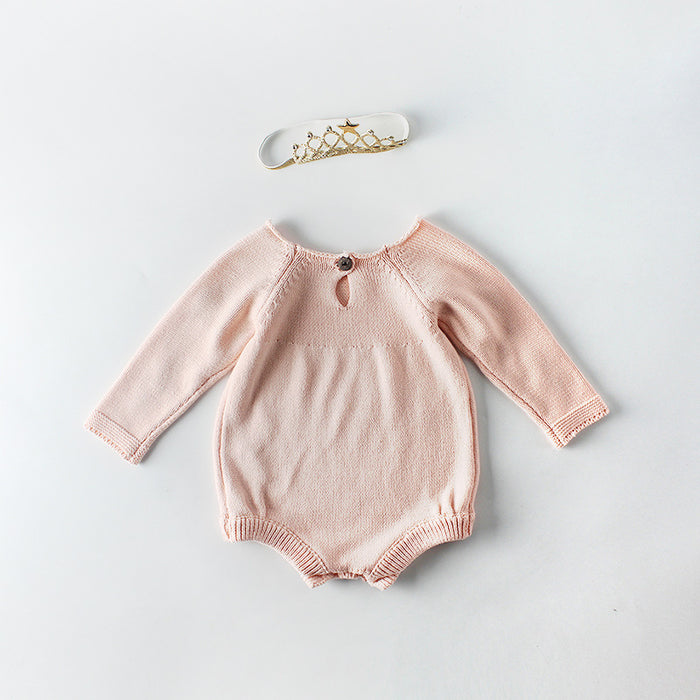 Baby Embroidered Knitting Jumpsuit