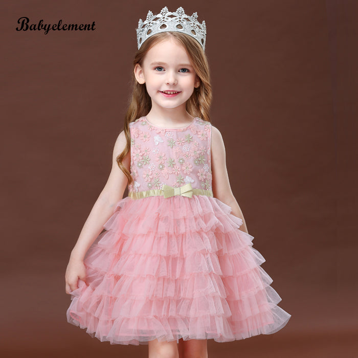 Children's puffy tulle skirt bow cake princess skirt