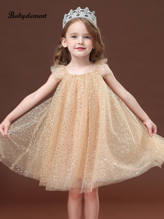 Shiny fluffy tulle princess dress