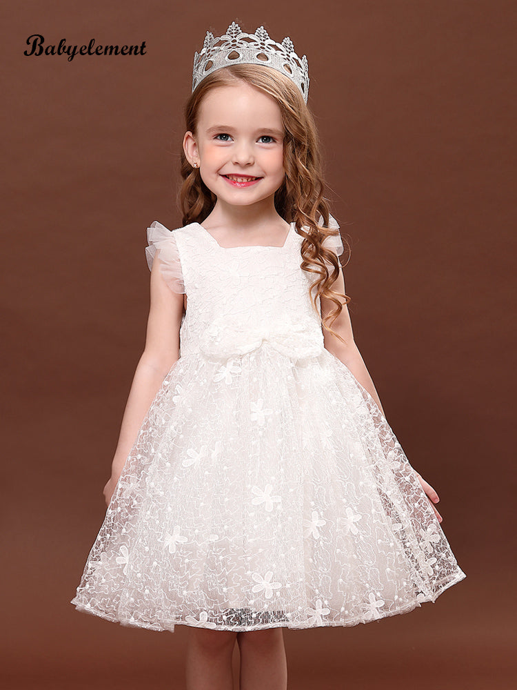 Ruffled lace girl dress princess skirt tutu skirt
