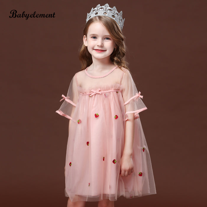 Girls puffy tulle princess dress