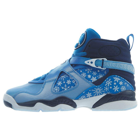 Nike Air Jordan 8 Retro Big Kid's Shoe Cobalt Blaze/Blue/Void/White - QucikShopee