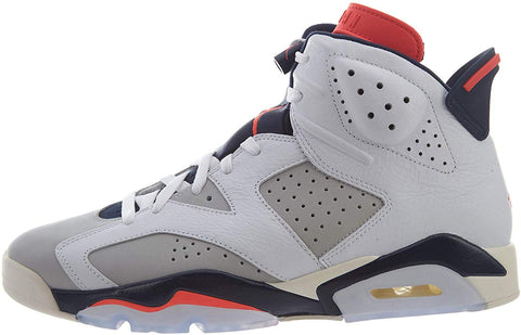 Nike Jordan Retro 6 - Men's (11, White/Infrared 23/Neutral Grey/White/Sail) - QucikShopee