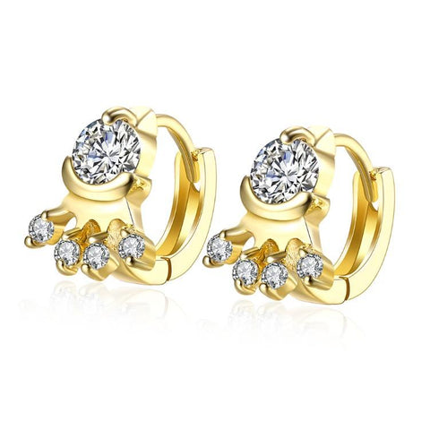 Golden NYC 18K Gold Plated Huggies Earring-Geometric - QucikShopee