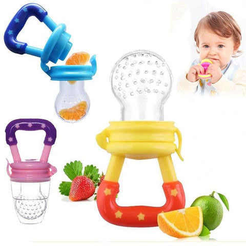 Fresh Fruit Food Baby Nipple Feeding Safe Fruit Feeder Nipples Feeding for Infant Supplies Nipple Teat Pacifier Bottles - QucikShopee