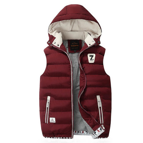 Hooded Men Winter 2020 Fleece Vest - QucikShopee