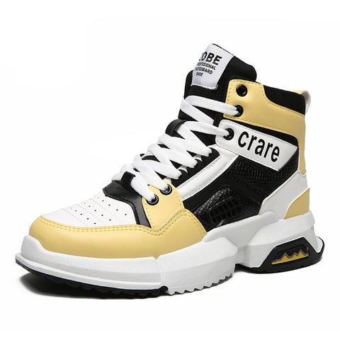 Retro Brand Men Jordan Basketball Shoes Luxury Air Damping Street Hip Hop Sport Sneakers High Top Trainers Leather Outdoor Boots - QucikShopee
