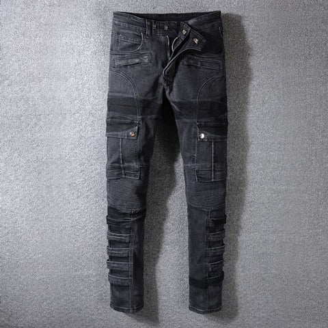 Fashion Streetwear Men Jeans - QucikShopee