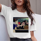Dark Snow White Harajuku T Shirt Women Ullzang Vintage 90s Aesthetic T-shirt Korean Style Tshirt Fashion Graphic Top Tees Female - QucikShopee