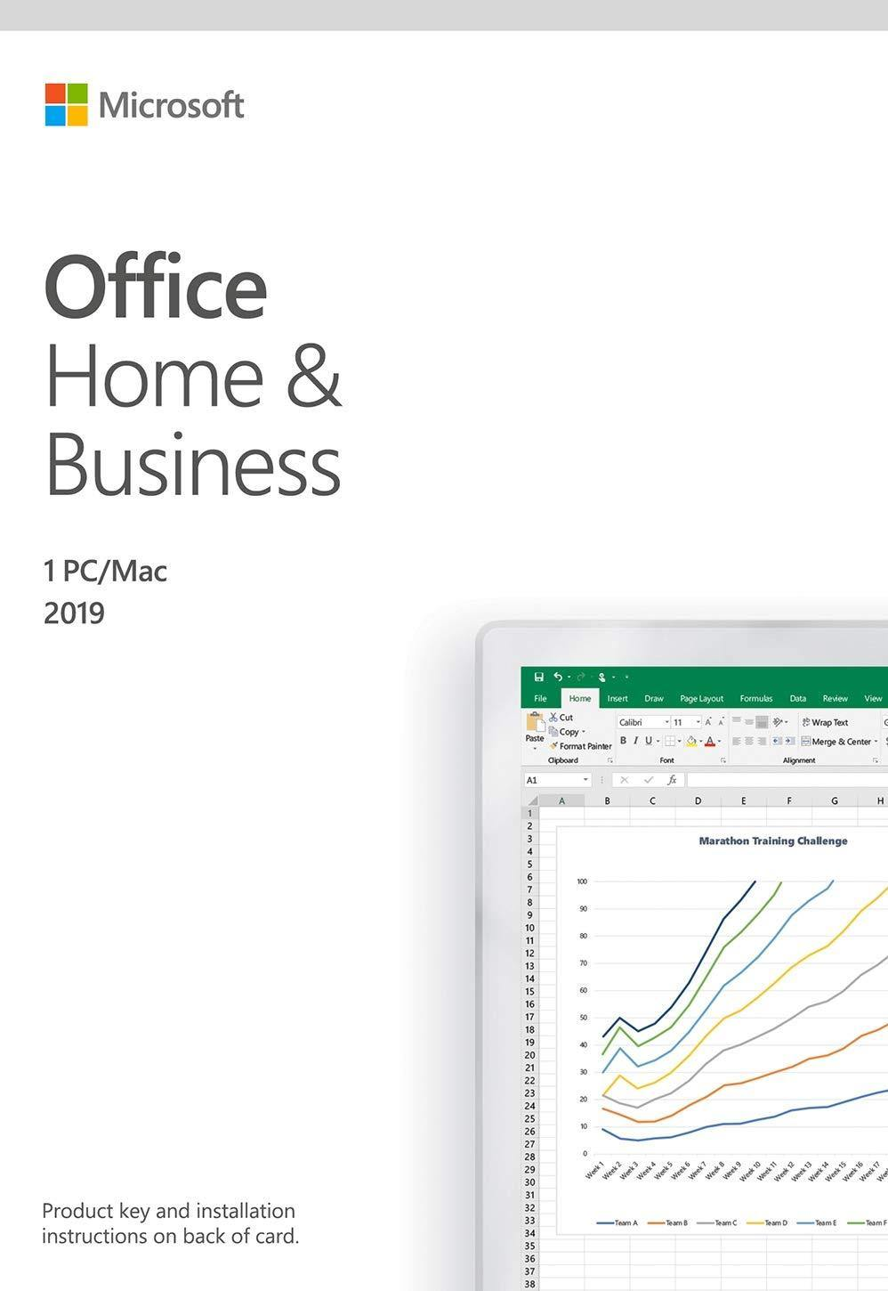 Microsoft Office Home and Business 2019 | 1 person, Windows 10 PC/Mac Key Card, English - Atlas Computers & Electronics