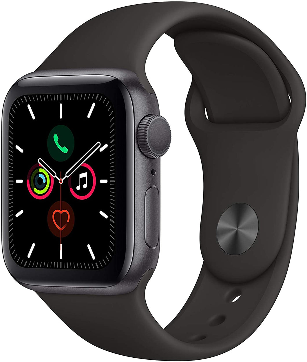 Apple Watch Series 5 (GPS, 40mm) - Space Gray Aluminum Case with Black Sport Band - Atlas Computers & Electronics