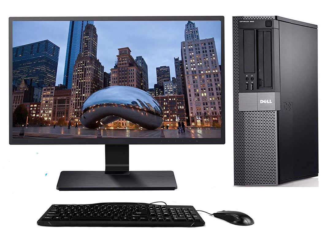 Dell Optiplex 990 Desktop + 22 Inch Dell Monitor~Windows 10 64 Bit ~ Keyboard~Mouse~WiFi Refurbished - Atlas Computers & Electronics