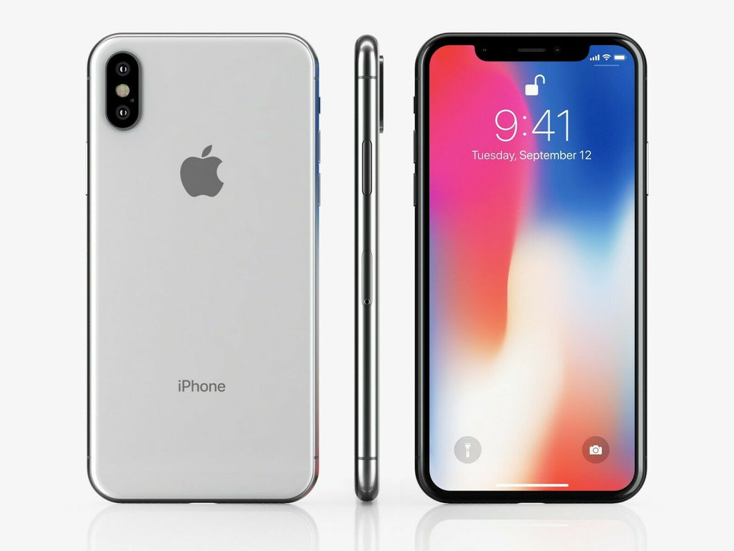 APPLE IPHONE X A1901 256GB UNLOCKED SMARTPHONE-BLK  Refurbished with Charger - Atlas Computers & Electronics