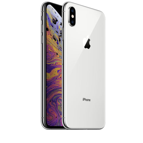 Apple iPhone A1921 XS Max 256GB - Silver (Unlocked).  Refurbished Silver & Black - Atlas Computers & Electronics