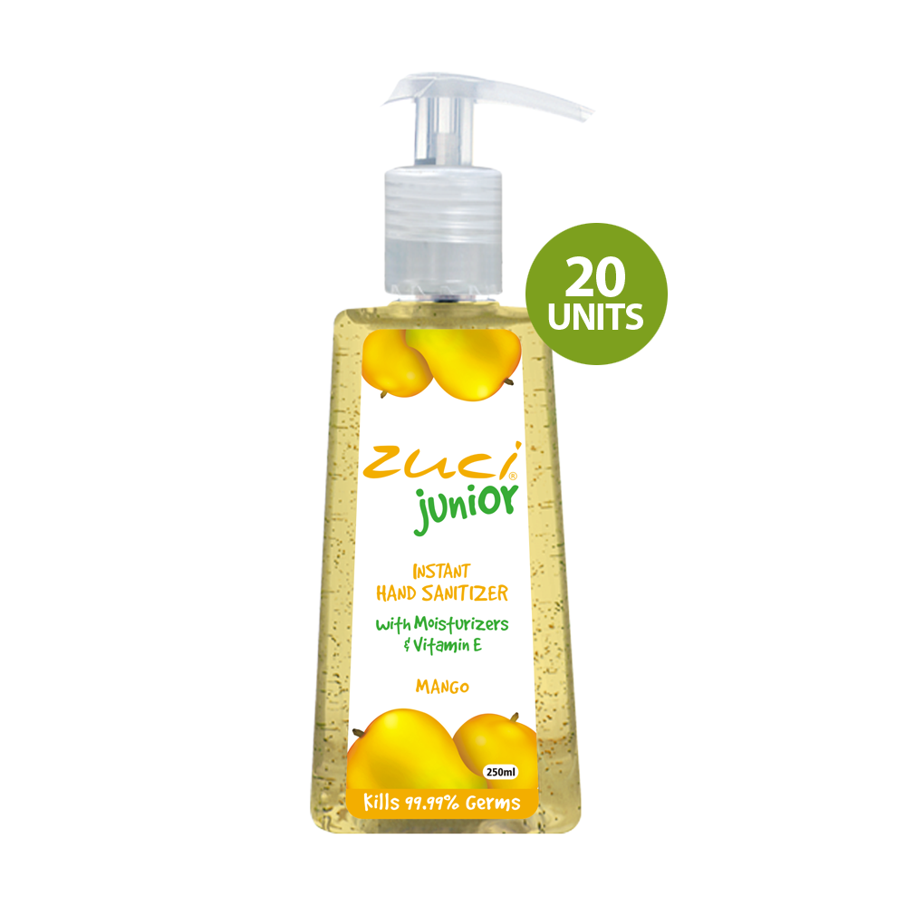 Zuci Junior Instant Hand Sanitizer (Mango - 250 ml) - 20 units