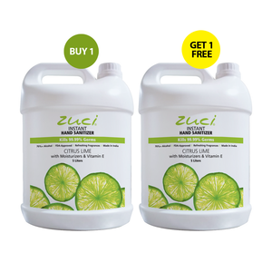 Zuci Naturals Instant Hand Sanitizer (Citrus Lime - 5 Liters) - BUY 1 GET 1 FREE