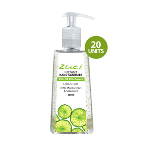 Zuci Naturals Instant Hand Sanitizer (Citrus Lime - 250 ml) - 20 units