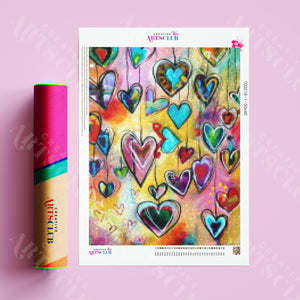 Diamond Painting Hippie All You Need Is Love 5D Diamant Malerei Bild Diy Set Mit Strasssteinen Viel