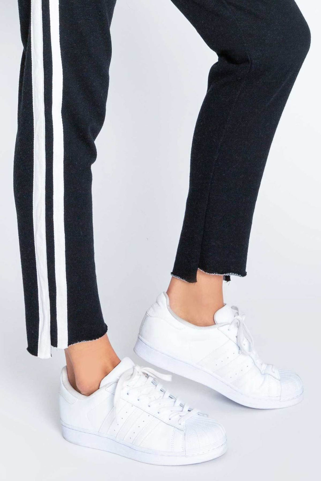 PJ Salvage Black Out Stripe Knit Jogger Pant
