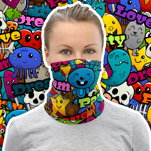 Accessoire multifonction bandana snood masque Dream Love Party Insane Society