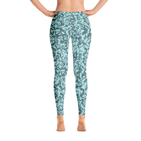 Leggings imprimé Camo original Insane Society Turquoise