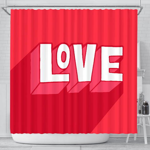 Rideau de douche imprimé original Insane Society Love