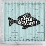 Rideau de douche imprimé original Insane Society Sea you soon