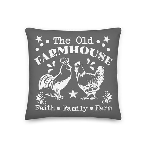 Coussin imprimé original Insane Society The old farmhouse