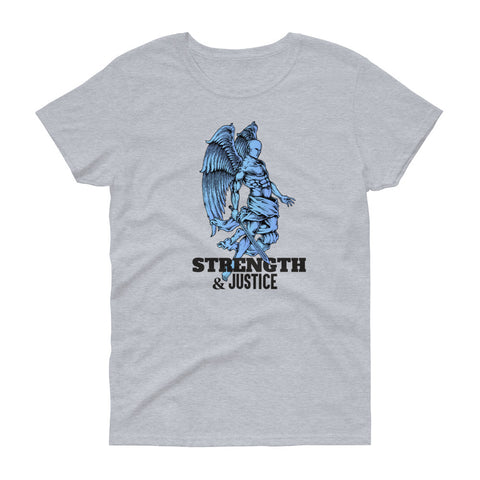 "T-shirt imprimé original femme Insane Society ""Strength and justice"""