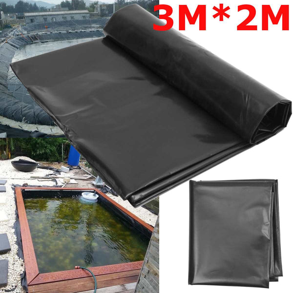 3X2M Black Fish Pond Liner Cloth Home Garden Pool Reinforced HDPE Heavy Landscaping Pool Pond Waterproof Liner Cloth New