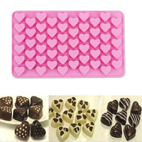55 Lattices Love Heart Shape Silicone Mold Cake Dessert Decor Tools For Chocolate Fondant Candy Form Baking Small Cookie Tray