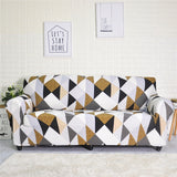 Geometric Elastic Sofa Cover for Living Room Modern Sectional Corner Sofa Slipcover Couch Cover Chair Protector 1/2/3/4 Seater
