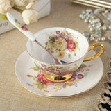 Bone China Coffee Cup Set English afternoon Tea sets Coffeeware Set 170ml  Black Tea Cups and Saucer English Tea set