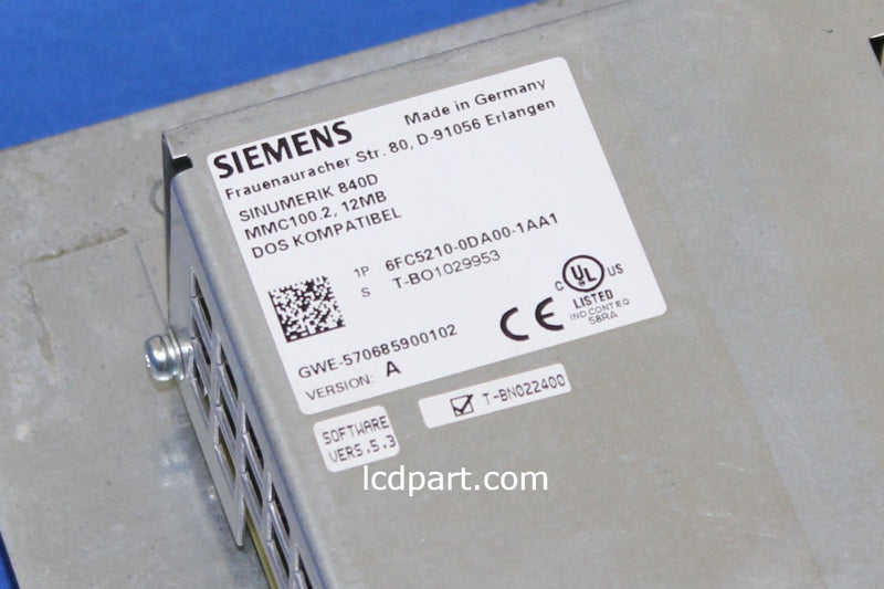 SIEMENS SINUMERIK 840D, Upgraded to Sunlight Readable LED Back light