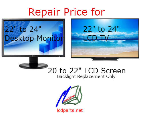DM2224, Repaired service for 22″ to 24″ LCD Monitor/LCD TV