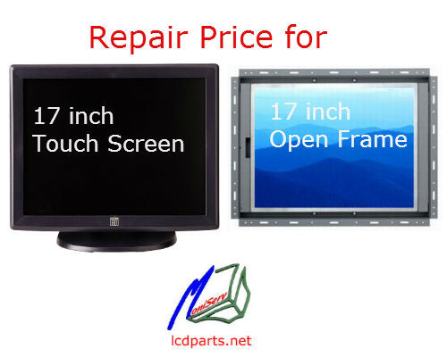 OPT17, Repaired service for 17 inch open frame monitor