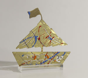 Hand Sculpted Decorative Boats by Yorgos Giotsas small