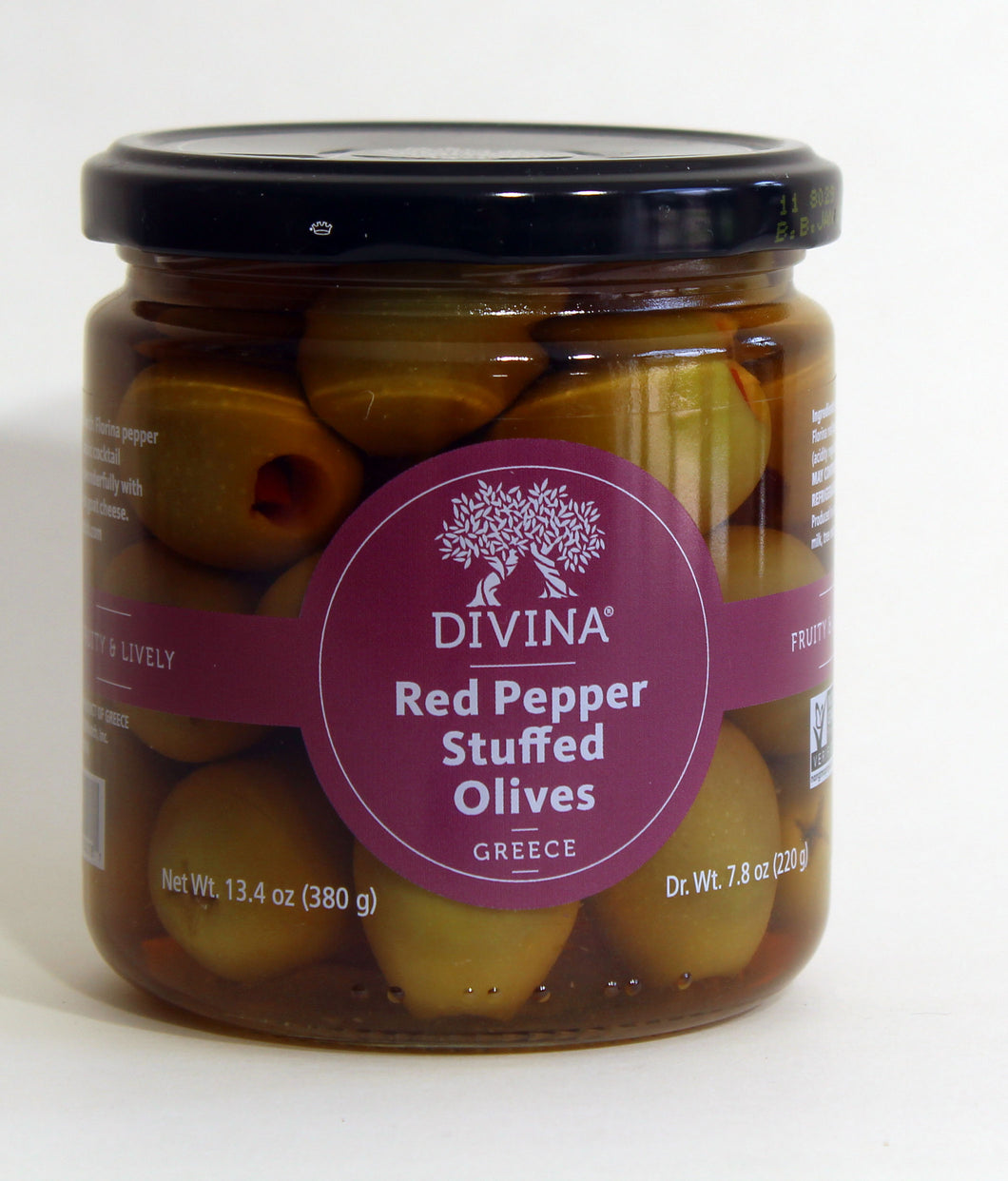 Stuffed Green Olives with red pepper