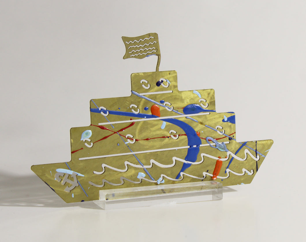 Hand Sculpted Decorative Boats by Yorgos Giotsas Large