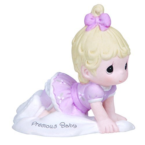 Precious Moments, Baby Gifts, Growing In Grace, Precious Baby, Bisque Porcelain Figurine, Blonde Girl,