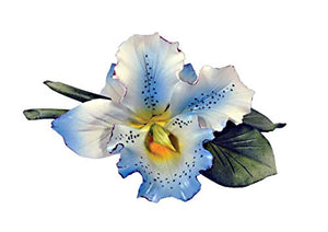 Orchid (Blue) Porcelain Flower Hand Made in Italy