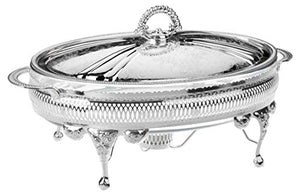 Casserole 36-cm Silver Plated None Tarnish with Lid & Warmer
