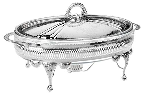 Queen Anne Casserole 36-cm Silver Plated None Tarnish with Lid & Warmer