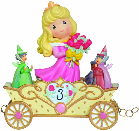 Now You're Three, A Beauty You'll Always and Forever Be, Disney Birthday Parade, Age 3, Resin Figurine