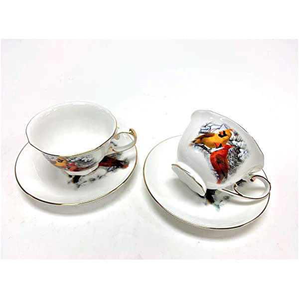 Homestead Cardinal Tea Cups 2-Piece 8oz.